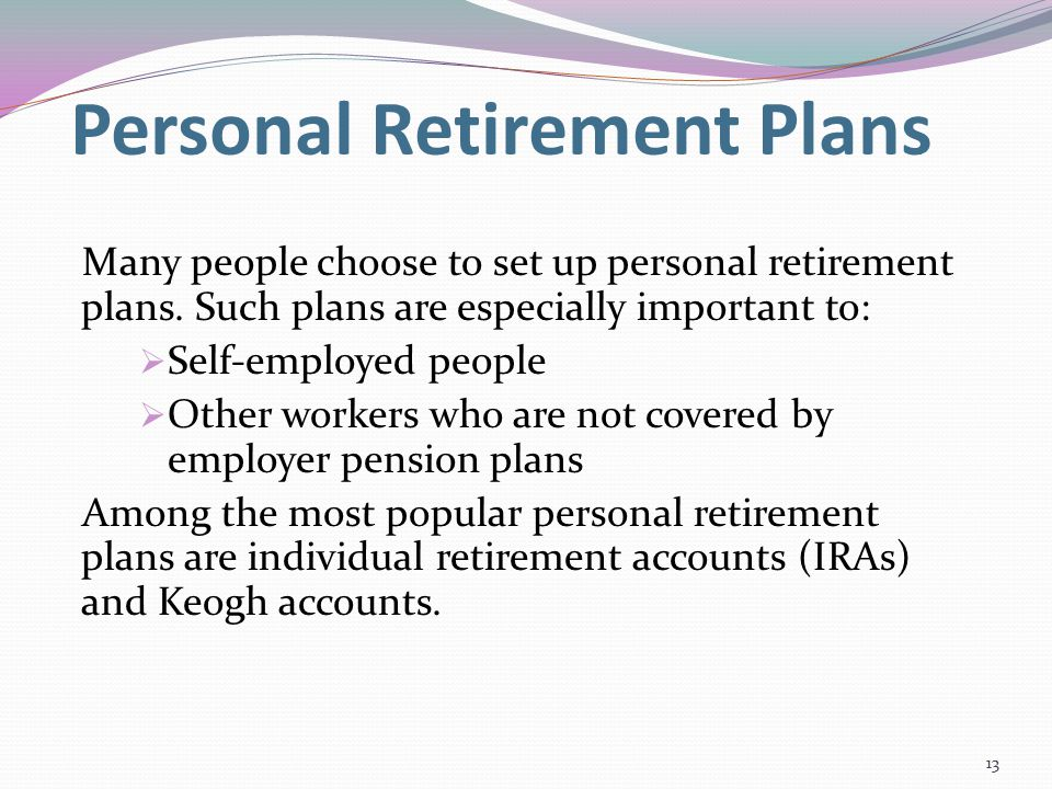 an analysis of the importance of individual retirement accounts An individual retirement account (ira) is a personal savings plan that offers  it is  important to realize that an ira is not itself an investment, but a  you have to  analyze your situation and determine which type of ira offers the best fit for you.