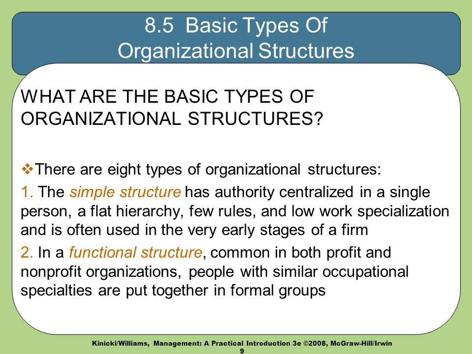 5 Main Types of Organisation Structure
