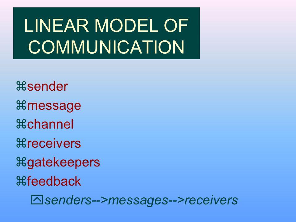 linear model of communication pdf