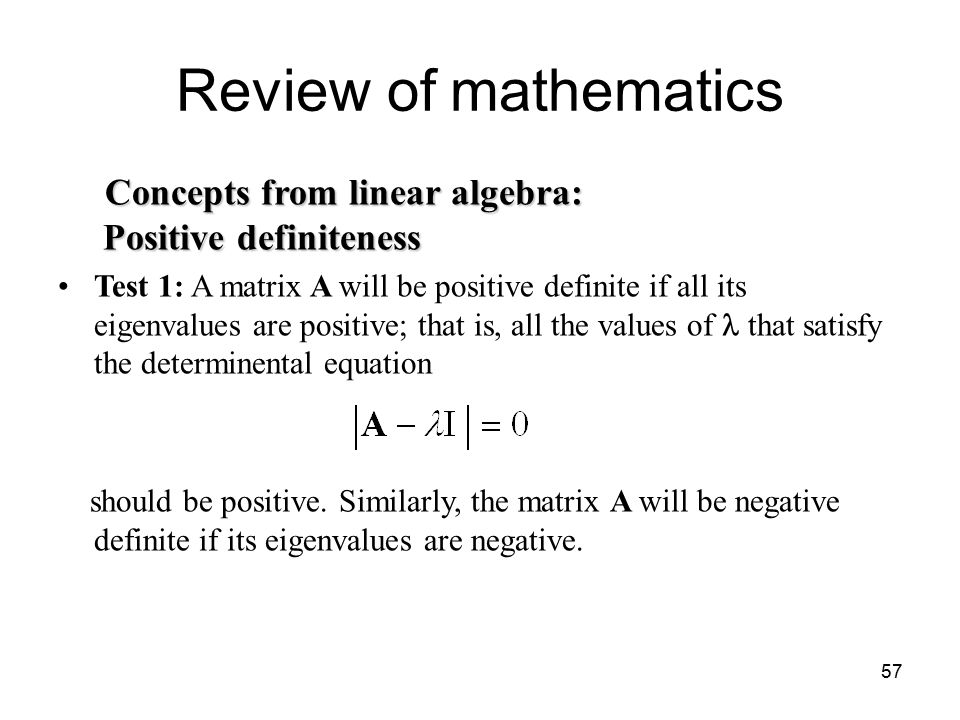how to show a matrix is positive definite