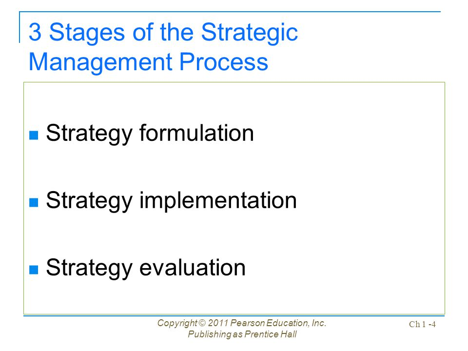 3 Stages of the Strategic Management Process