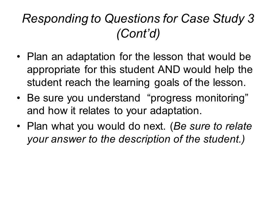 case study 3 1 essay