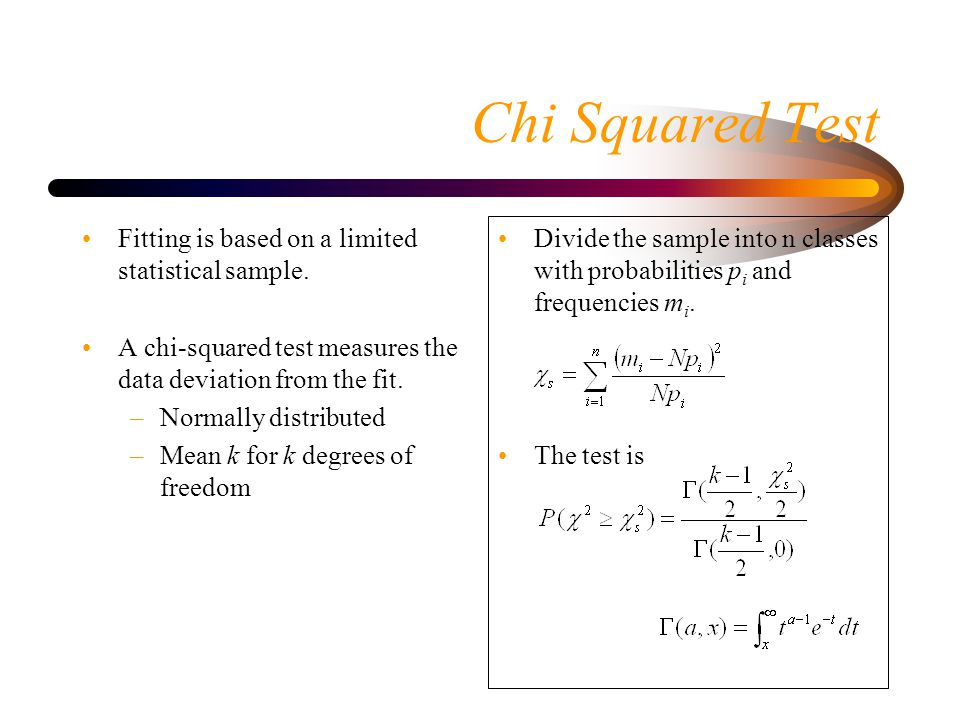 Chi Squared Test Fitting is based on a limited statistical sample.