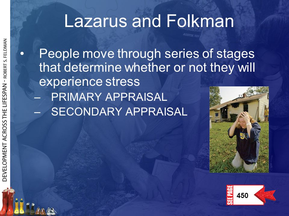 Lazarus and Folkman People move through series of stages that determine whether or not they will experience stress.