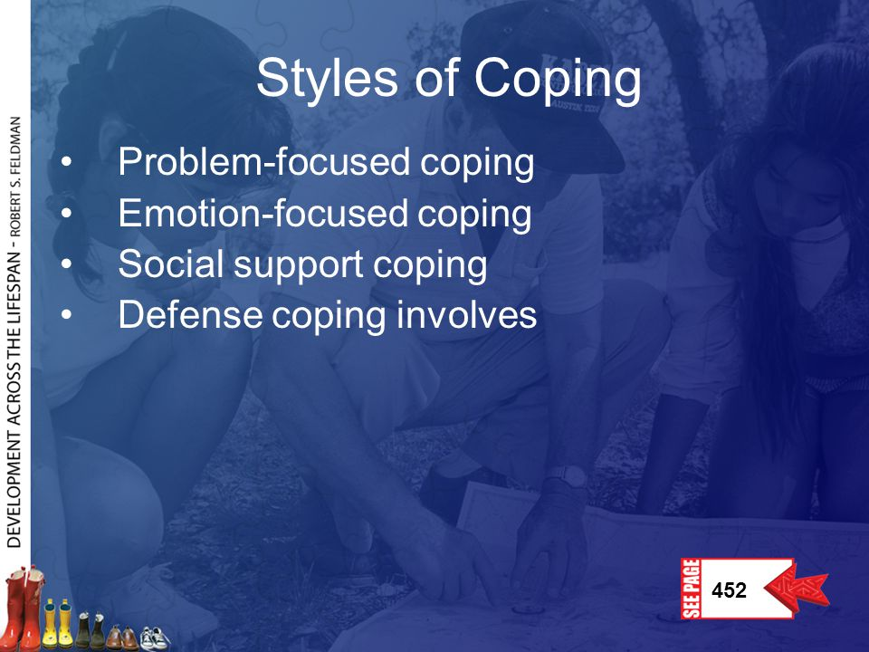 Styles of Coping Problem-focused coping Emotion-focused coping