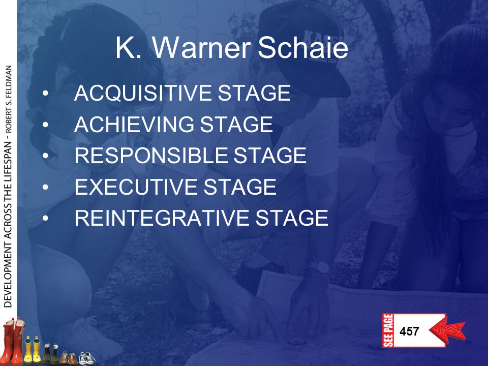 K. Warner Schaie ACQUISITIVE STAGE ACHIEVING STAGE RESPONSIBLE STAGE