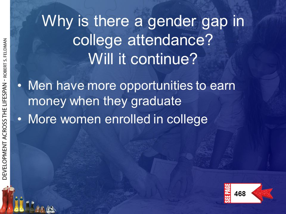 Why is there a gender gap in college attendance Will it continue