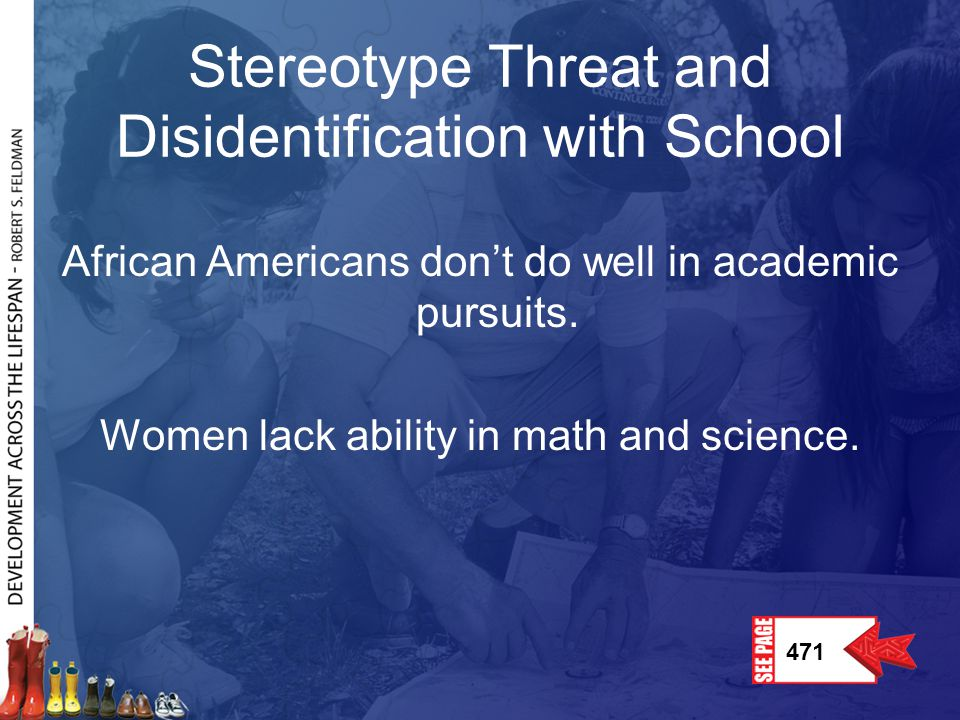 Stereotype Threat and Disidentification with School