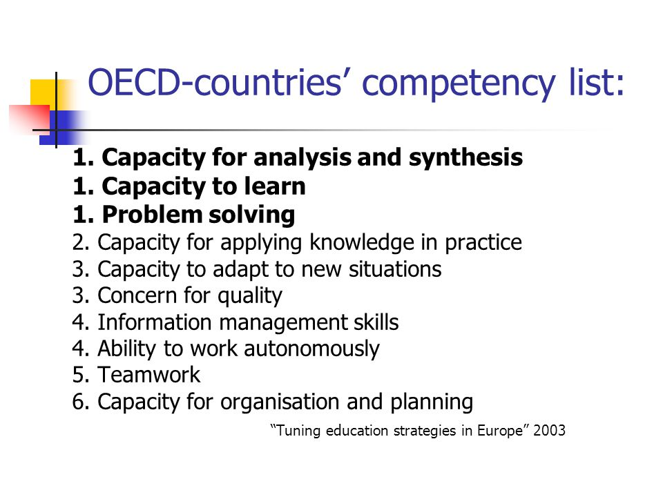 comparative assessment of work competency of Three principles of competency-based learning: mission rather than on the assessment of learning three principles of competency-based learning.