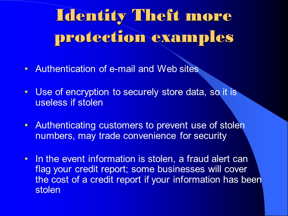 identity theft how information technology has Note: you might have to contact these companies again after you have an  identity theft report step 2: place a fraud alert and get your credit.