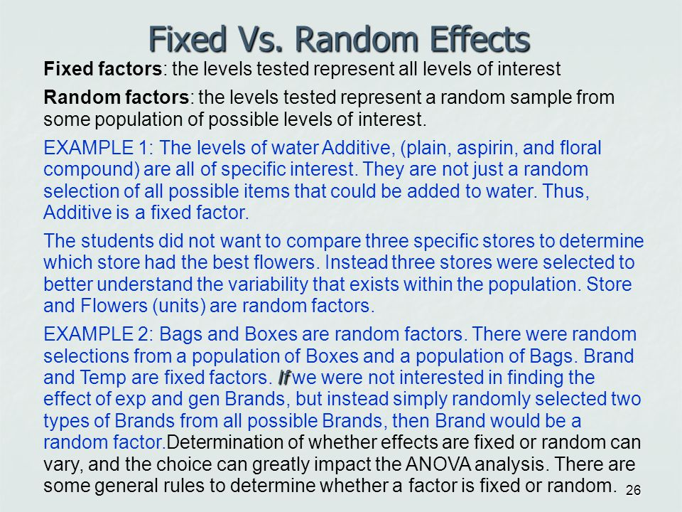 Random Assignment Versus Random Selection