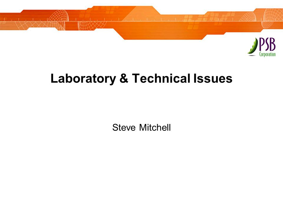 Laboratory & Technical Issues
