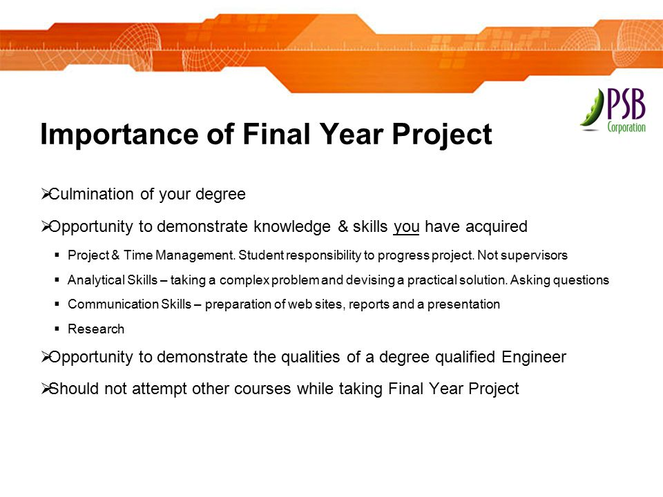 Importance of Final Year Project