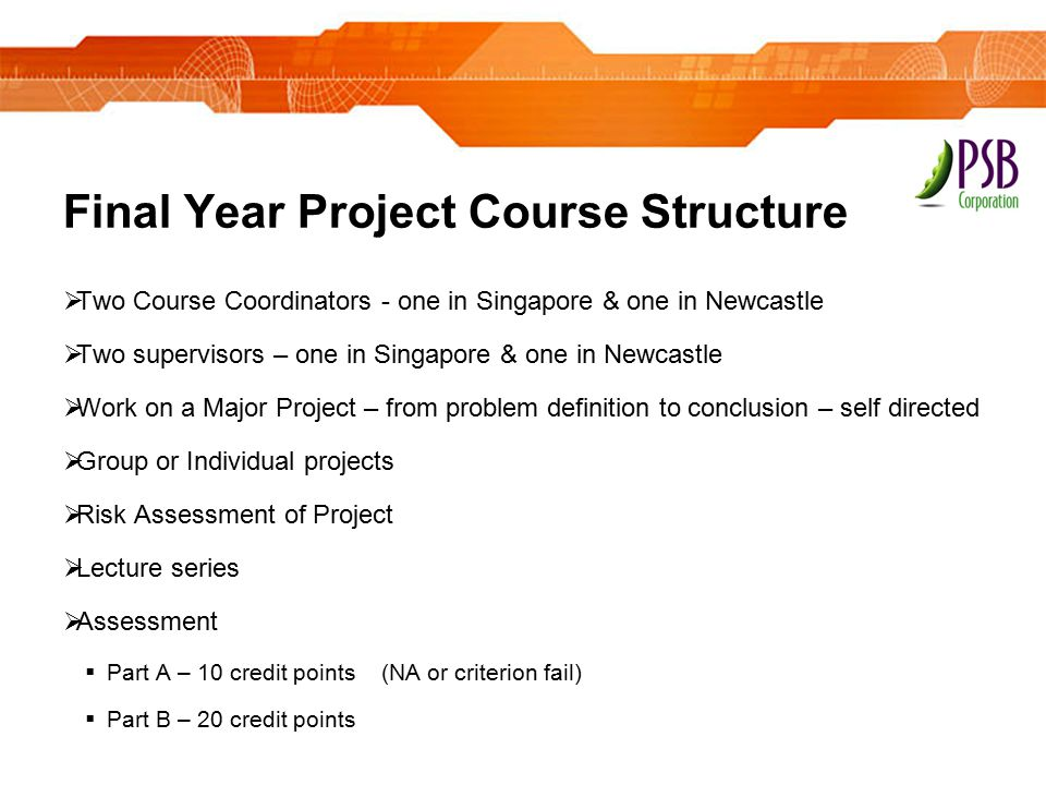 Final Year Project Course Structure