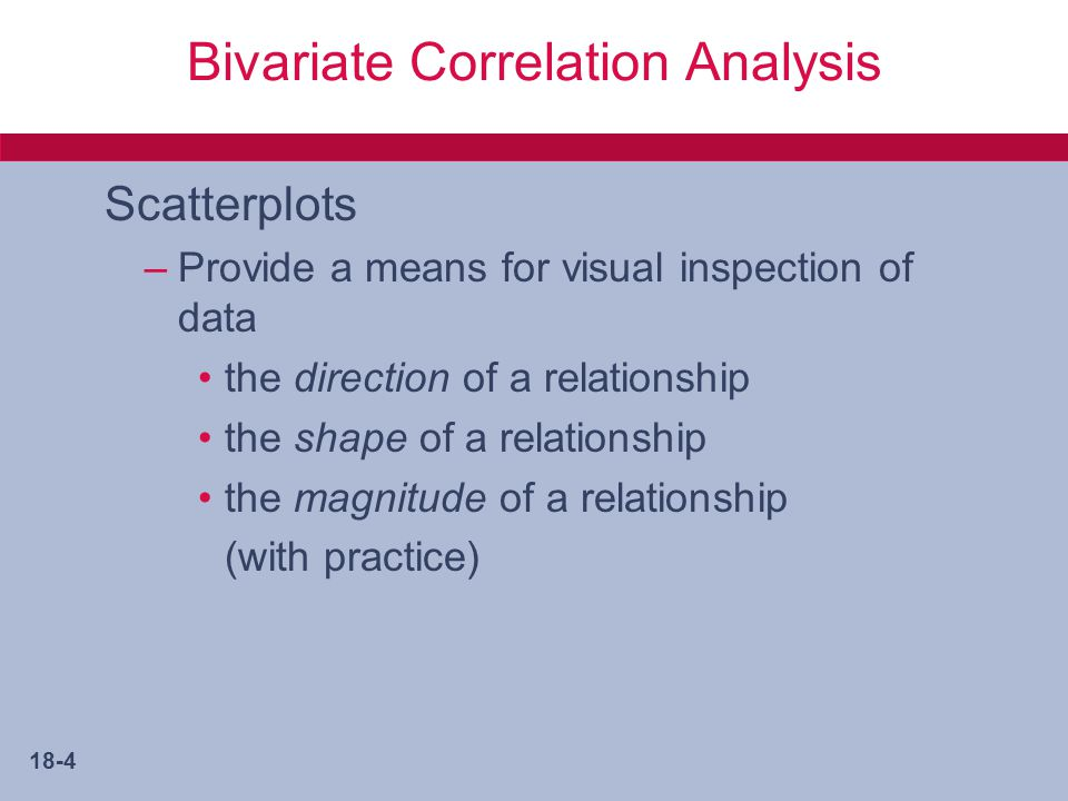 Bivariate Correlation Analysis