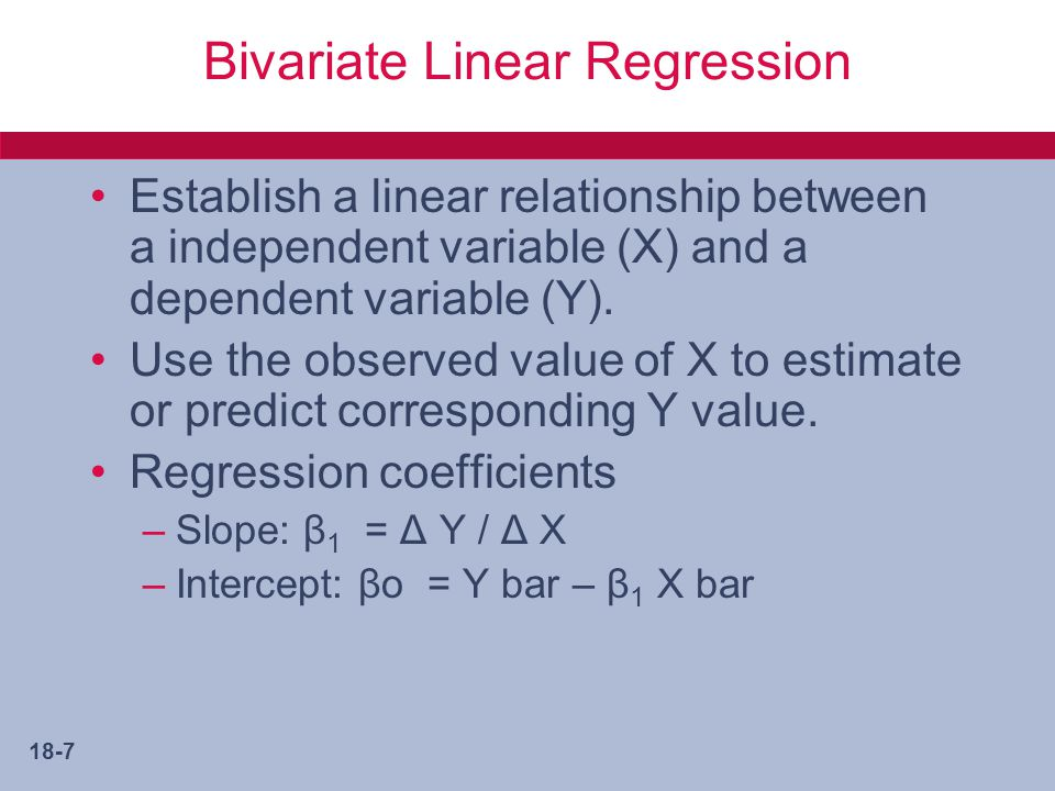 Bivariate Linear Regression