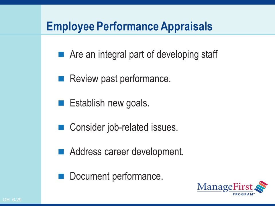 Review staff performance