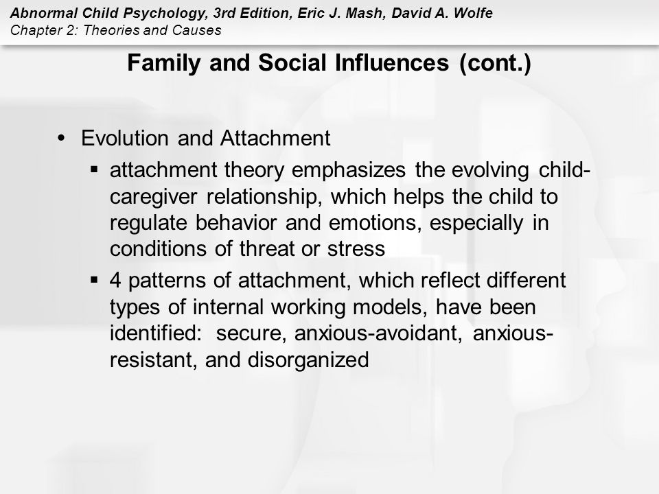 Family and Social Influences (cont.)