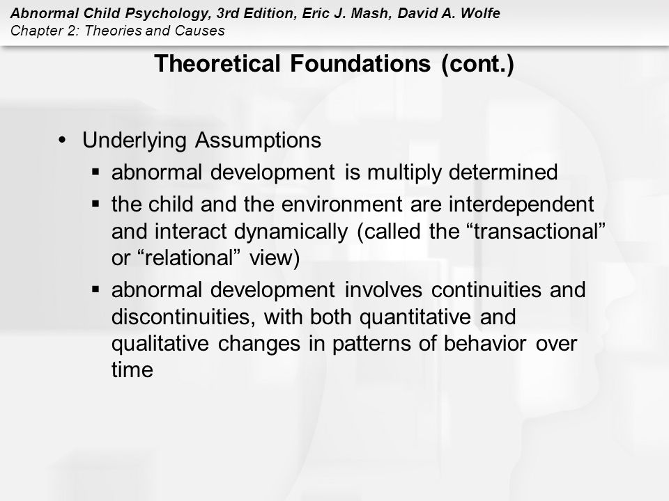 Theoretical Foundations (cont.)
