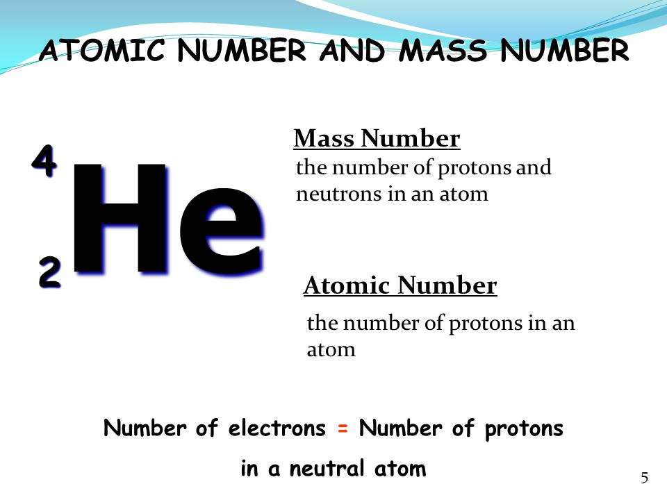 Number of electrons