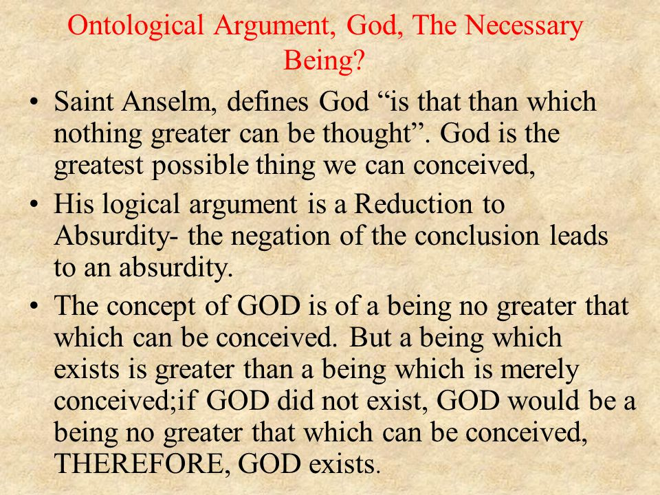 ontological argument essay