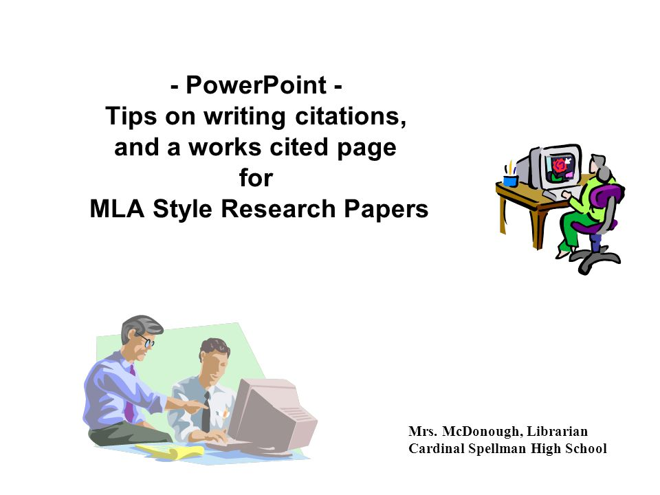 power point on writing research paper