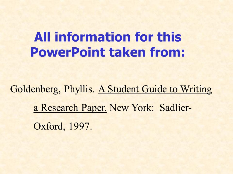 mla powerpoint research paper
