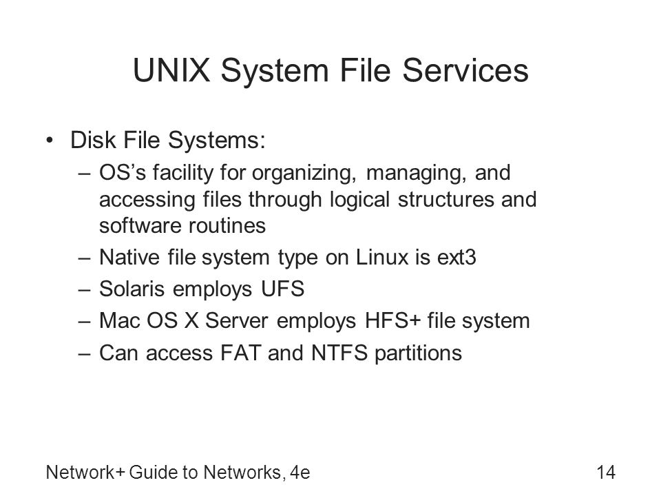 UNIX System File Services