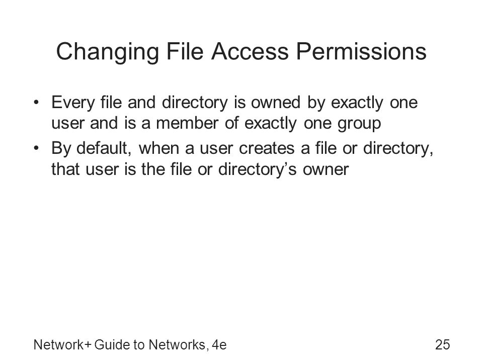 Changing File Access Permissions
