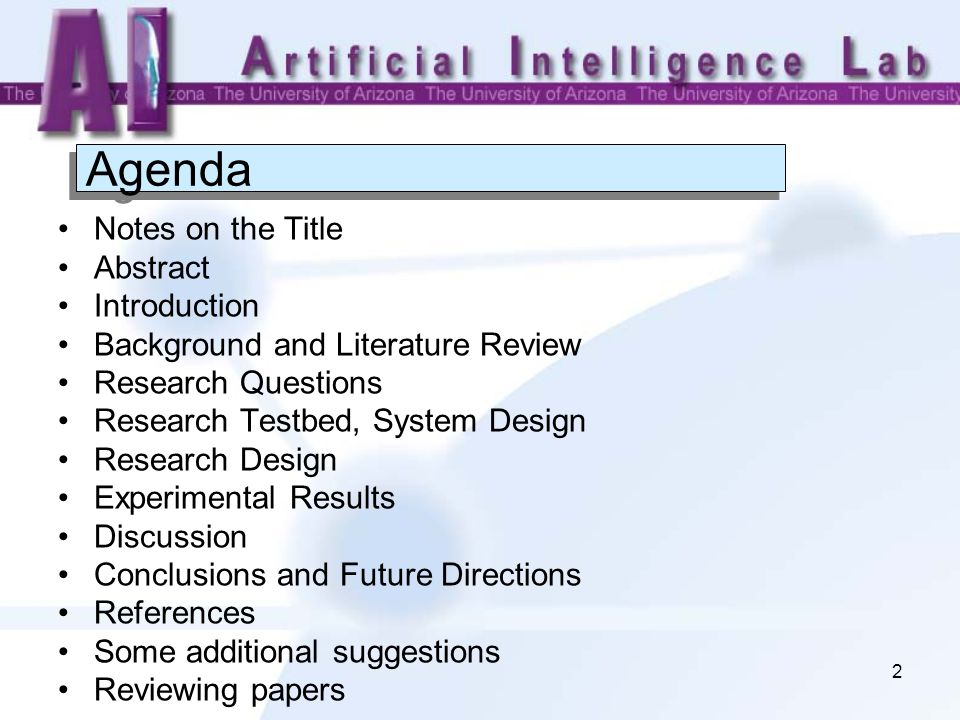 A Template For Producing Research Papers In The Ai Lab  Ppt Download