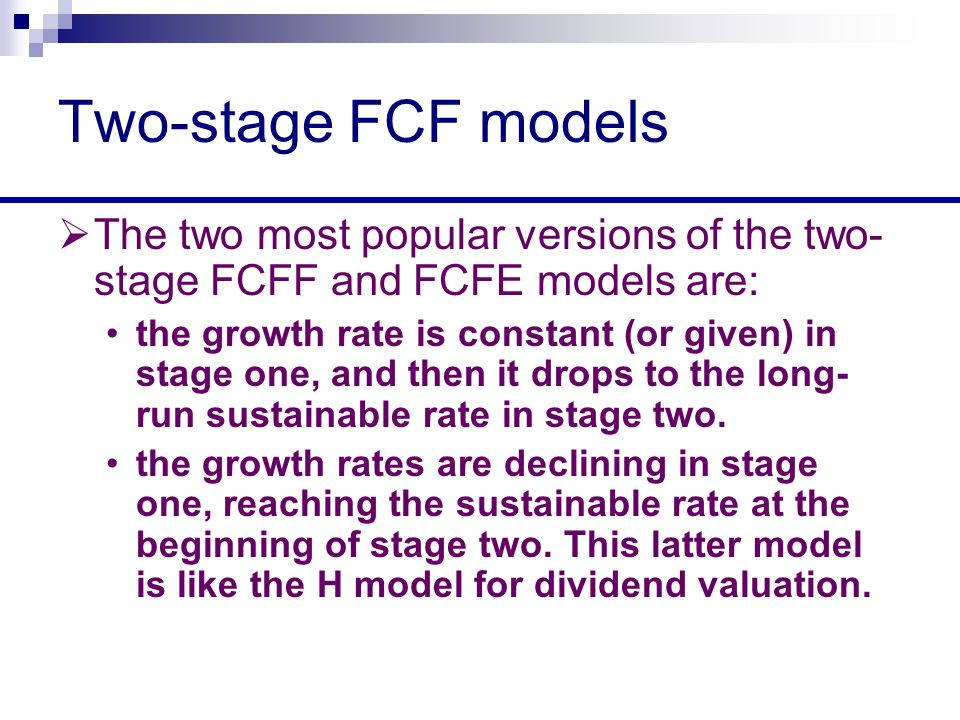 relationship between fcfe and fcff