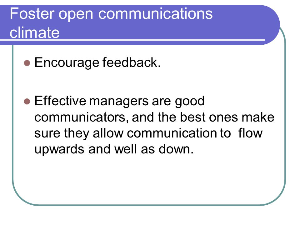 communication climates Communication climate refers to the tone of relationships between people who work or live together this lesson teaches about the types of.