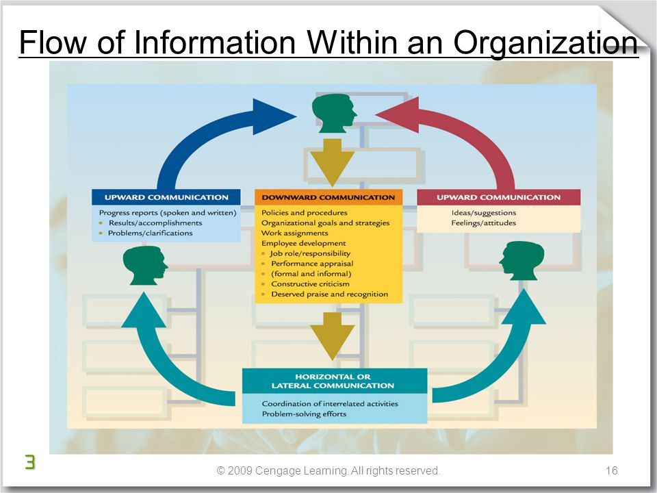 how information flows within an organization 2 essay What is organizational communication  what flows within the container  of the organization, like if you have to take the elevator up ten floors.