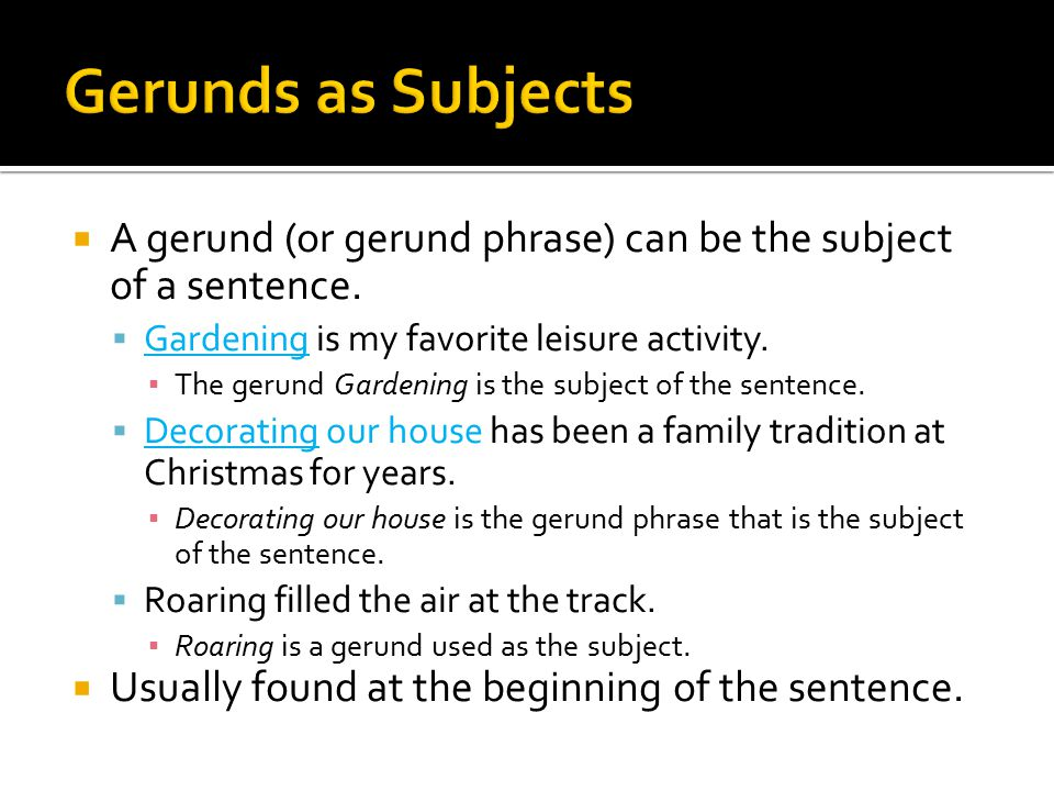 Types Of Gerund Phrases Ppt Video Online Download