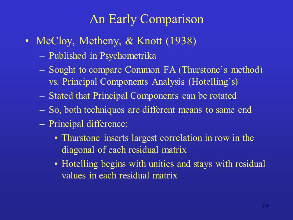 An Early Comparison McCloy, Metheny, & Knott (1938)
