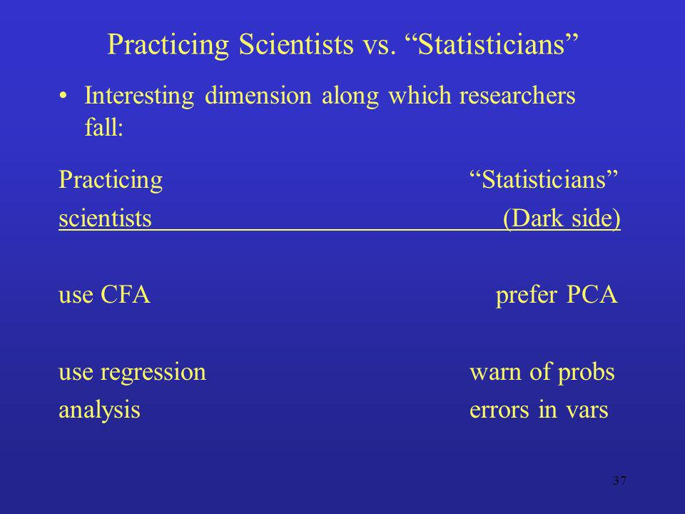 Practicing Scientists vs. Statisticians