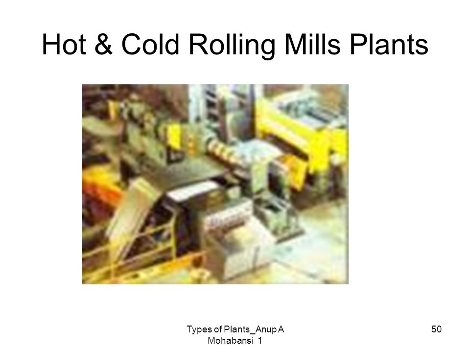 Hot & Cold Rolling Mills Plants