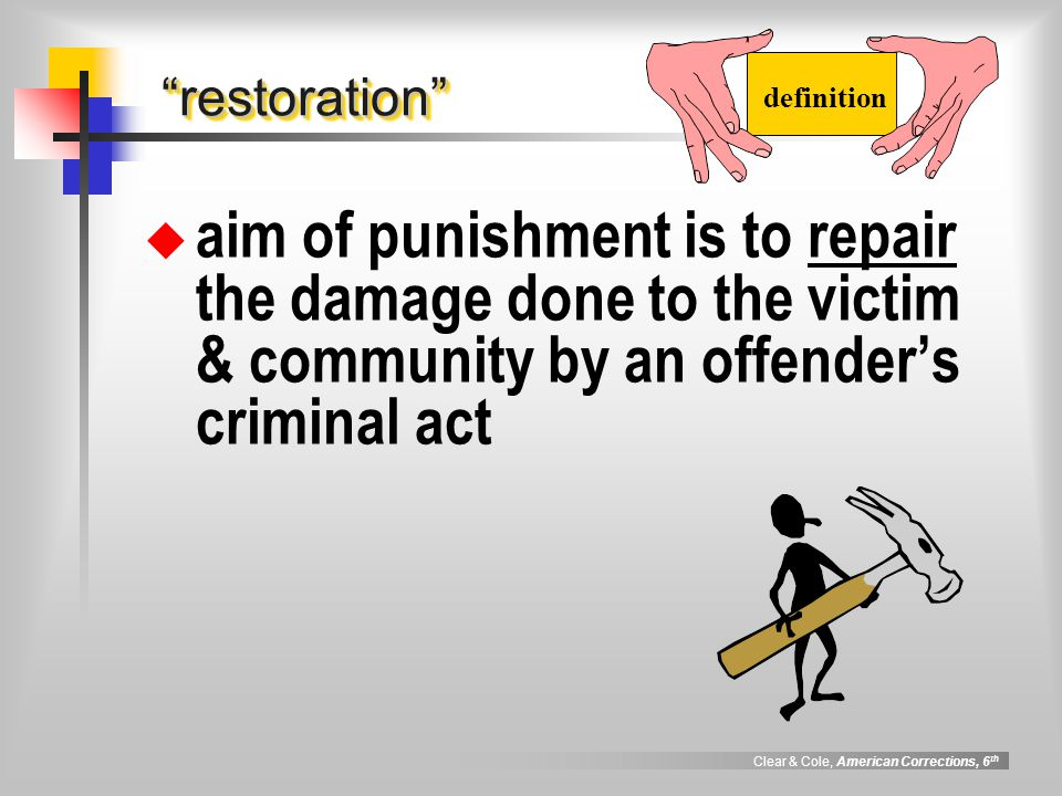 punitive rehabilitative and restorative punishment essay What is the difference between retributive justice and restorative on rehabilitative and restorative retributive punishment restorative justice.