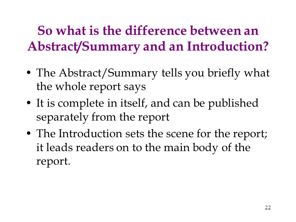 What Is the Difference Between an Abstract and a Thesis