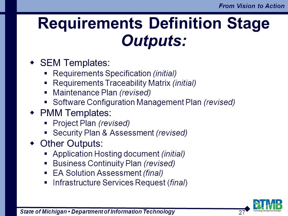 sem templates requirements specification initial requirements