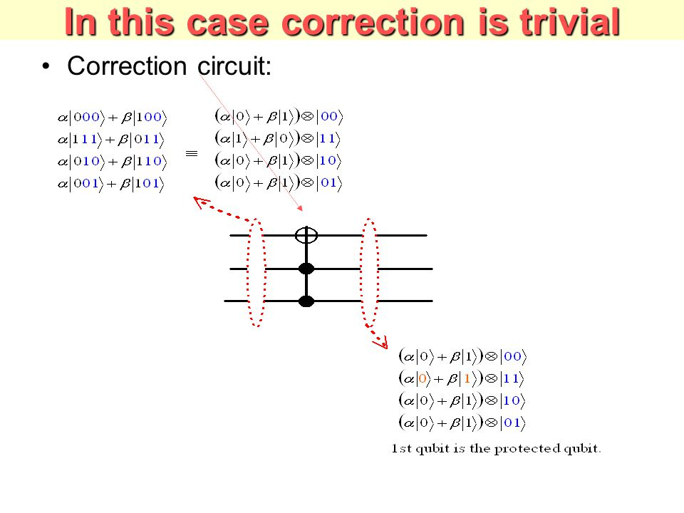 In this case correction is trivial