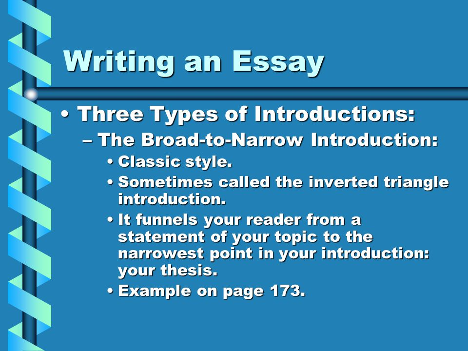 types of essay in writing Effectively writing different types of essays has become critical to academic success essay writing is a common school assignment, a part of standardized tests, and a requirement on college applications.