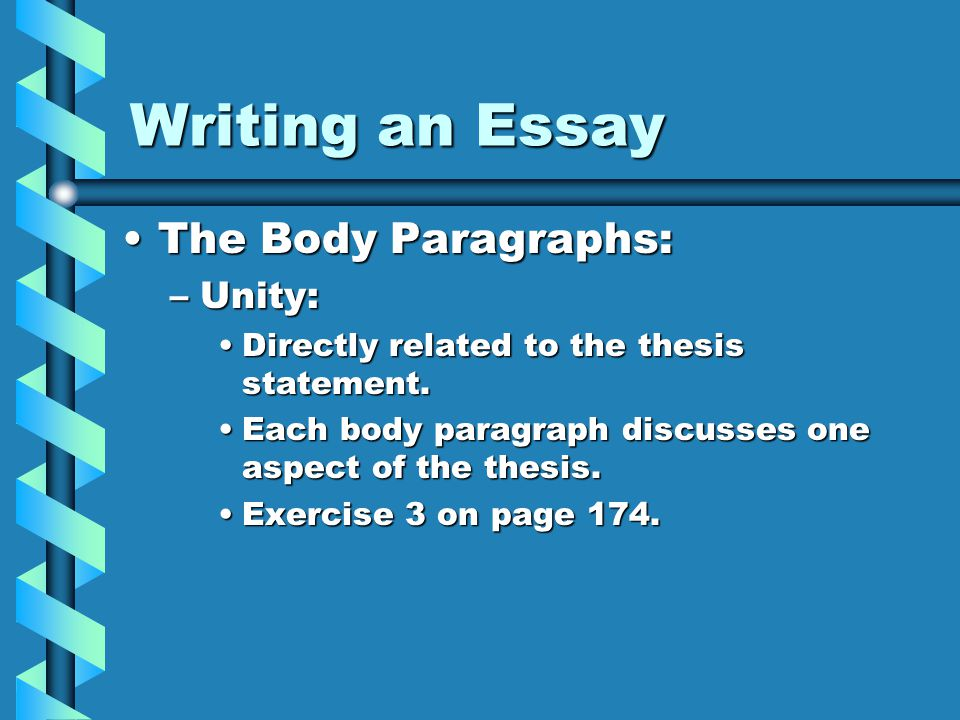 writing an essay body paragraph