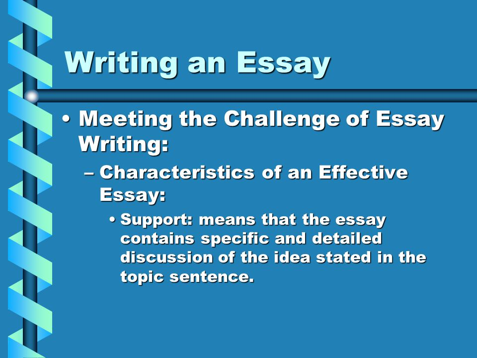 3 characteristics of an essay