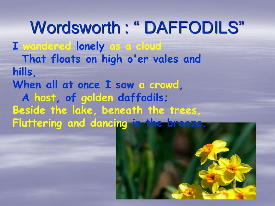 Daffodils poem