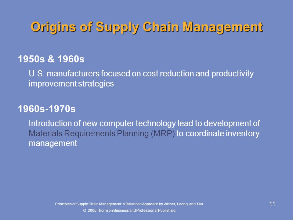 chapter 1 introduction to supply chain