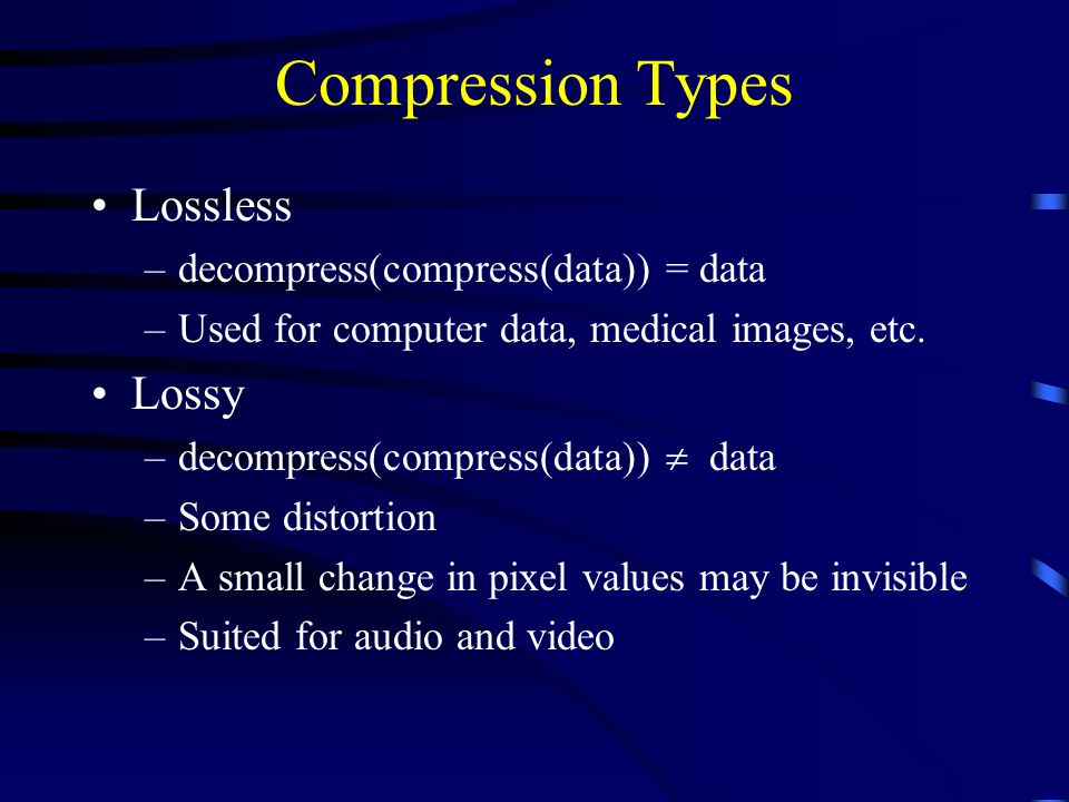 compression and decompression in multimedia