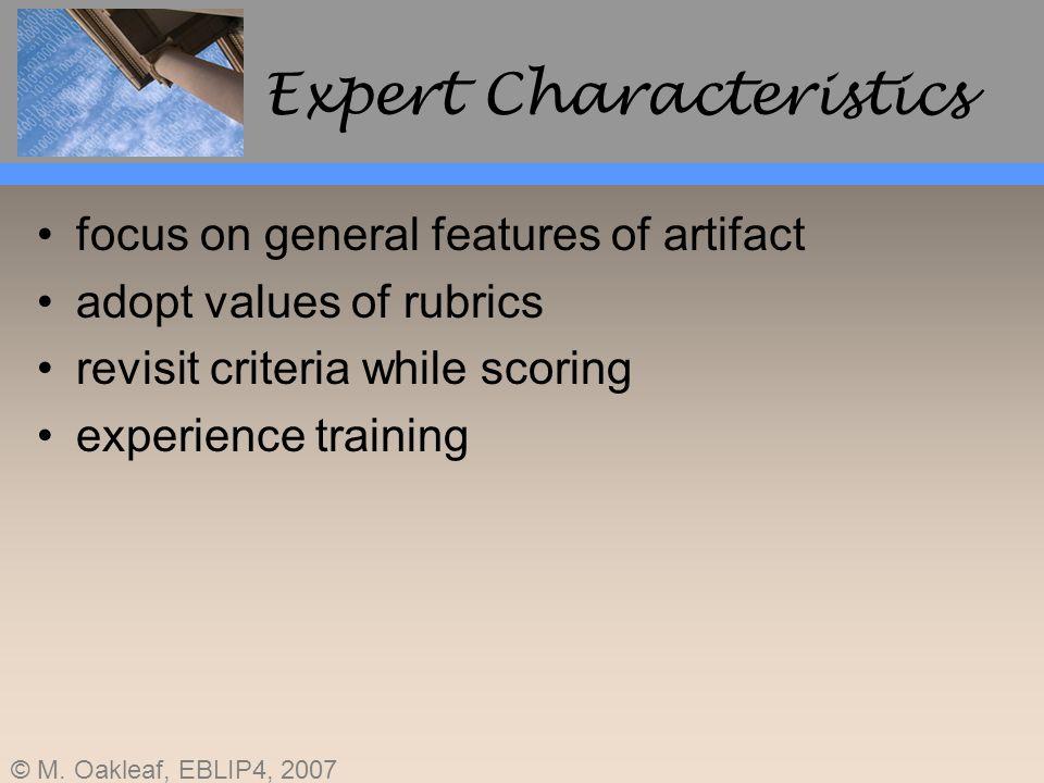 Expert Characteristics