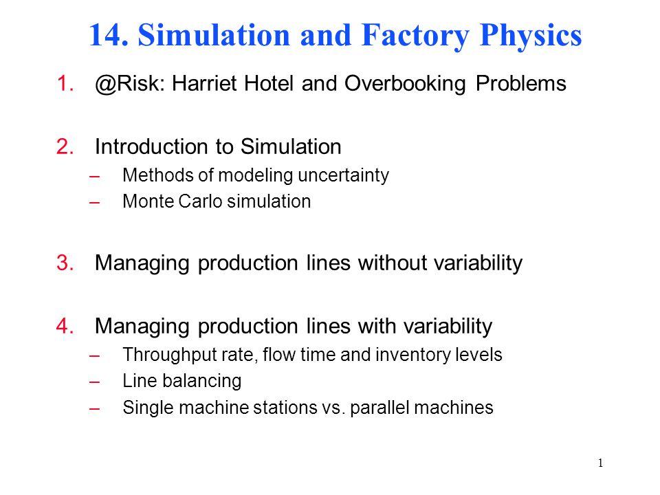 production line balancing