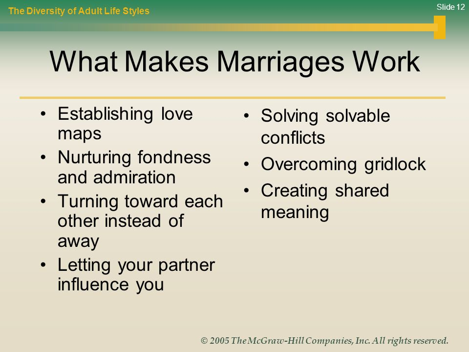 What Makes Marriages Work